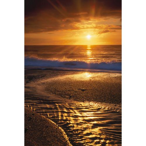 Savage Beach Sunset Printed Vinyl Backdrop (5x7')