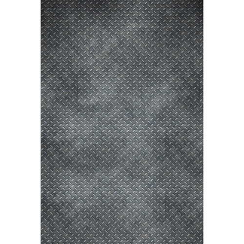 Savage Distressed Diamond Plate Printed Vinyl Backdrop (5x7')