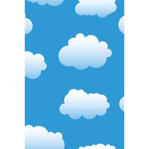 Savage Cloudy Blue Sky Printed Vinyl Backdrop (5x7')