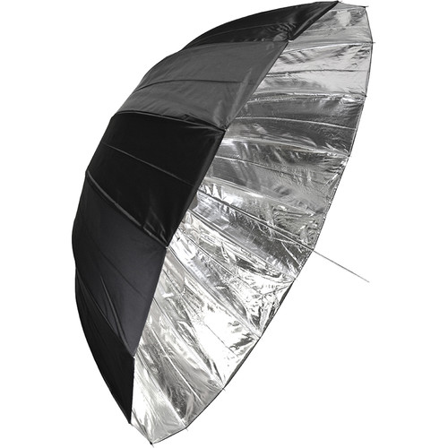 "Savage 65"" Deep Black/Silver Umbrella"