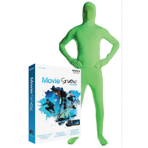 Savage Green Screen Video Suit with Sony Movie Studio Platinum (Large)