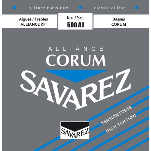 SAVAREZ 500AJ High Tension Corum Alliance Classical Guitar Strings (6-String Set, 252 - 437)