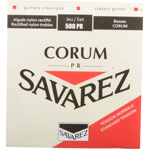 SAVAREZ 500PR Cristal Corum Normal Tension Classical Guitar Strings (6-String Set, 28 - 42)