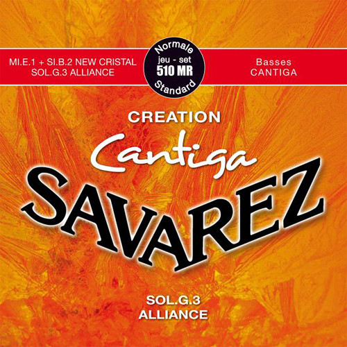 SAVAREZ 510MR Creation Cantiga Normal Tension Classical Guitar Strings (6-String Set, 29 - 43)
