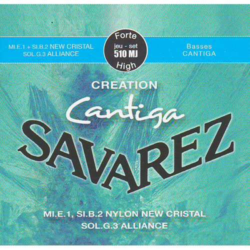 SAVAREZ 510MJ Creation Cantiga High Tension Classical Guitar Strings (6-String Set, 30 - 44)