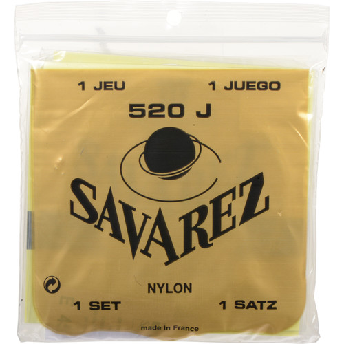 SAVAREZ 520J Traditional High Tension Classical Guitar Strings (6-String Set, 29 - 45)