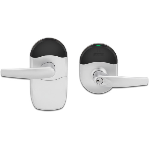 Schlage NDE Series Wireless Lock with ENGAGE Technology (Athens Lever, Satin Chrome Finish)