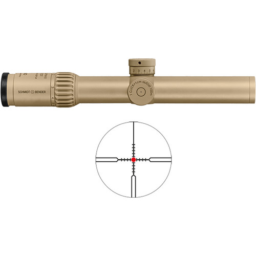 Schmidt & Bender 1.5-8x26 PM II ShortDot Riflescope (CQB Reticle, RAL 8000 Tan)