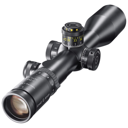 Schmidt & Bender 3-12x50 PMII/LP Riflescope (P3L Illuminated Mil-Dot Reticle, CW DT/ST Turret)