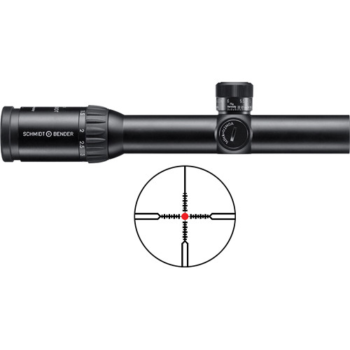 Schmidt & Bender 1.1-4x20 PM Short-Dot Riflescope (CQB Illuminated Reticle)