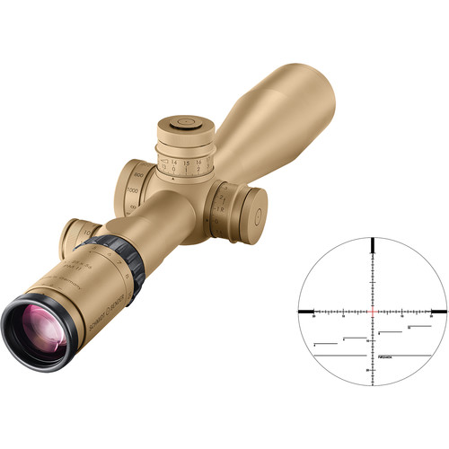 Schmidt & Bender 5-25x56 PM II Riflescope (RAL 8000 Tan, P4FL2-MOA Reticle)