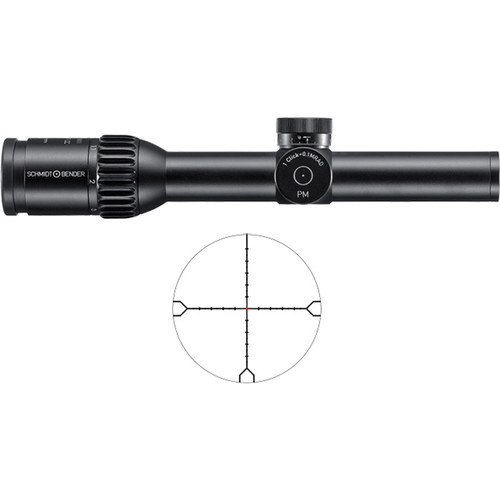 Schmidt & Bender 1-8x24 PM II ShortDot CC Riflescope (Black)