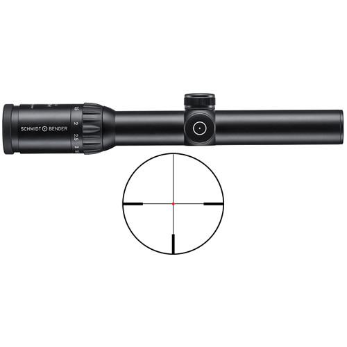 Schmidt & Bender 1.1-4x24 Zenith LM Riflescope (FD7 FlashDot Reticle)