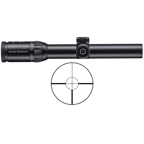 Schmidt & Bender 1.1-4x24 Zenith LM Riflescope (FD9 FlashDot Reticle)