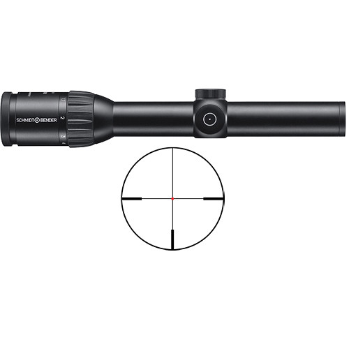 Schmidt & Bender 1-8x24 Exos LM Riflescope (FD7 FlashDot Reticle)
