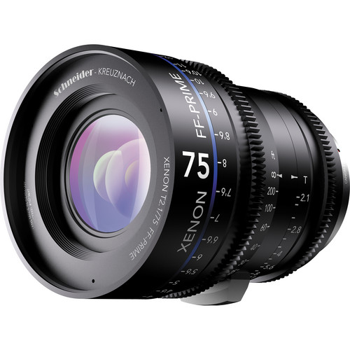 Schneider Xenon FF 75mm T2.1 Lens with ARRI PL Mount (Feet)