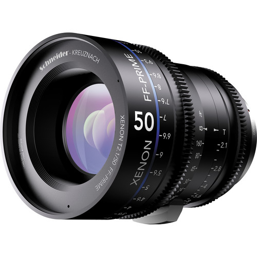 Schneider Xenon FF 50mm T2.1 Lens with ARRI PL Mount (Feet)