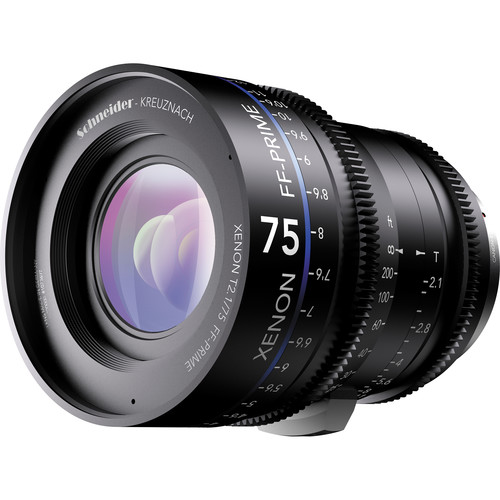 Schneider Xenon FF 75mm T2.1 Lens with Sony E Mount (Meters)