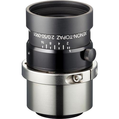 "Schneider Xenon-Topaz 50mm f/2.0 C-Mount Lens with P-Iris for 1.1"" Sensors"