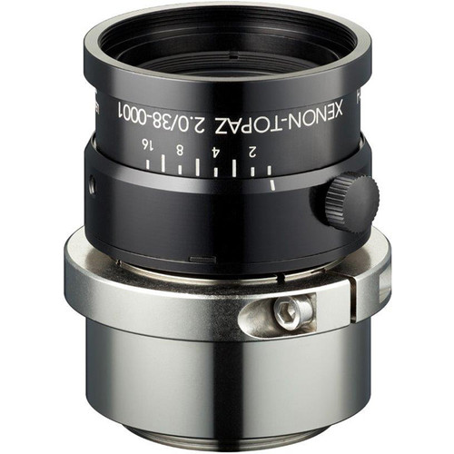 "Schneider Xenon-Topaz 38mm f/2.0 C-Mount Lens with P-Iris for 1.1"" Sensors"