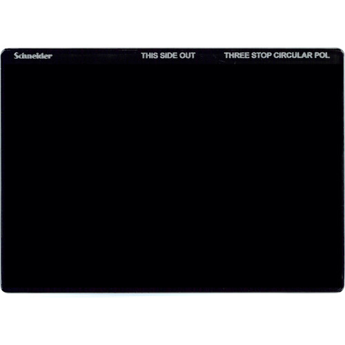 "Schneider 4 x 5.65"" Neutral Density 0.9 Circular Polarizer Filter (3 Stops)"