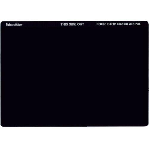 "Schneider 4 x 5.65"" Neutral Density 1.2 Circular Polarizer Filter (4 Stops)"