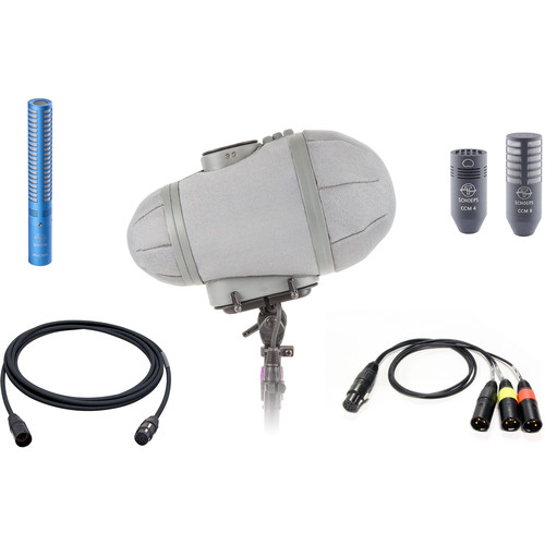 Schoeps MiniCMIT DMS Set Double Mid-Side Condenser Microphone Trio with Windshield System