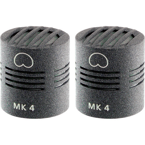 Schoeps MK 4 Microphone Capsule (Matched Pair, Matte Gray)