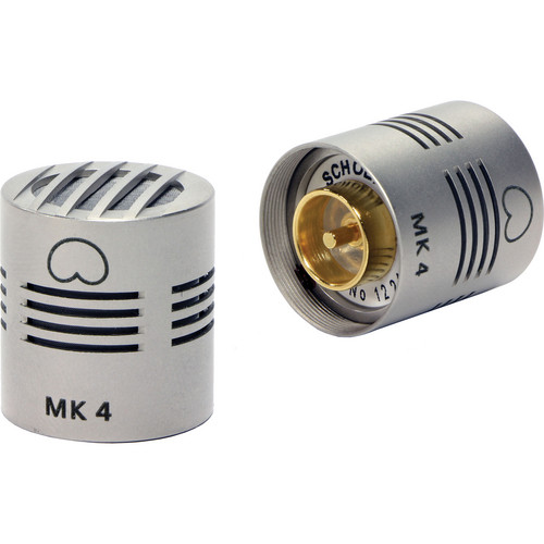 Schoeps MK 4 Microphone Capsule (Matched Pair, Nickel Finish)