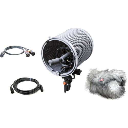 Schoeps ORTF Stereo Outdoor Set CCM 4 Lg Condenser Microphones with Basket-Type Windscreen