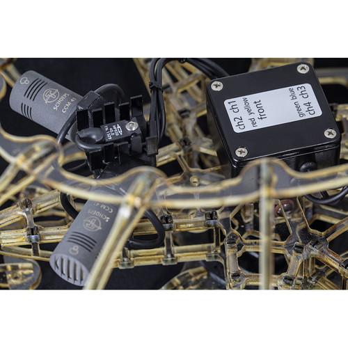 Schoeps ORTF Surround Outdoor Set Cardioid Condenser Microphone Quartet with Heated Windshield System
