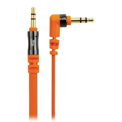 Scosche flatOUT - Flat Audio Cable (Orange, 3')