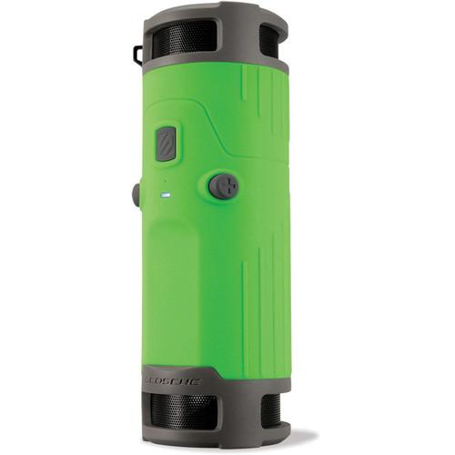 Scosche boomBOTTLE Rugged Weatherproof Wireless Mobile Speaker (Green/Gray)