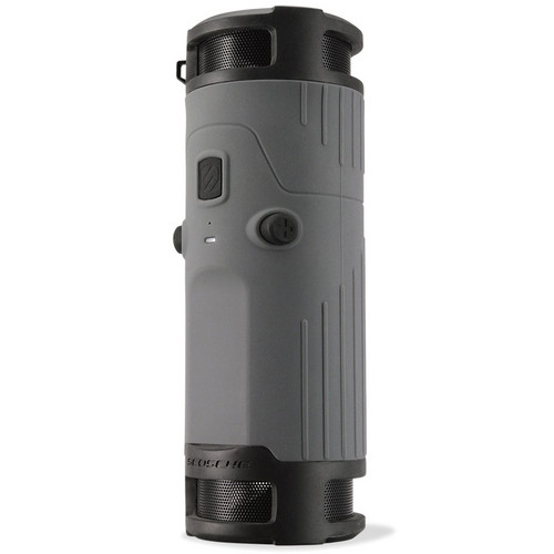 Scosche boomBOTTLE Rugged Weatherproof Wireless Mobile Speaker (Gray/Black)