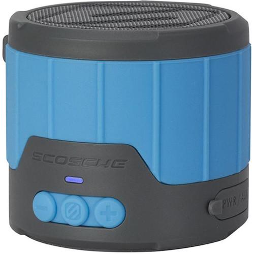 Scosche boomBOTTLE mini Rugged Weatherproof 3W Wireless Speaker (Blue/Gray)