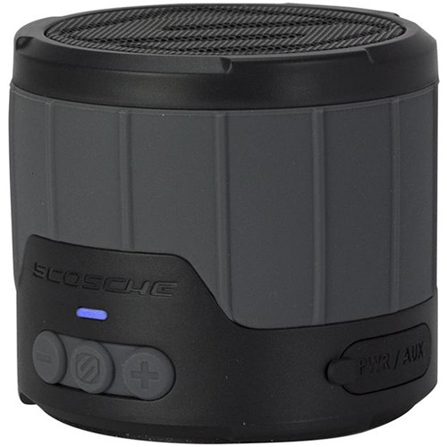 Scosche boomBOTTLE mini Rugged Weatherproof 3W Wireless Speaker (Gray/Black)