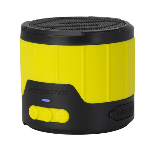 Scosche boomBOTTLE mini Rugged Weatherproof 3W Wireless Speaker (Yellow/Black)