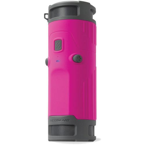 Scosche boomBOTTLE Rugged Weatherproof Wireless Mobile Speaker (Pink/Gray)