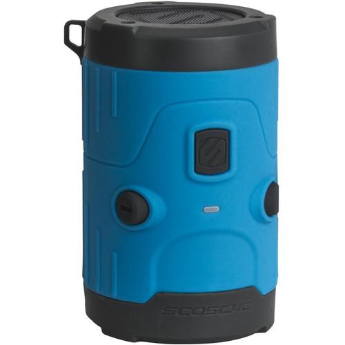 Scosche boomBOTTLE H2O Waterproof Bluetooth Wireless Speaker (Blue/Gray)