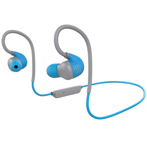 Scosche SportclipAIR Wireless Adjustable Earbuds with Microphone & Controls (Blue)