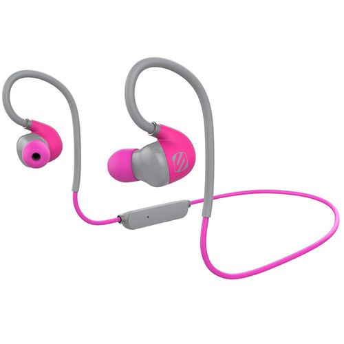 Scosche SportclipAIR Wireless Adjustable Earbuds with Microphone & Controls (Pink)