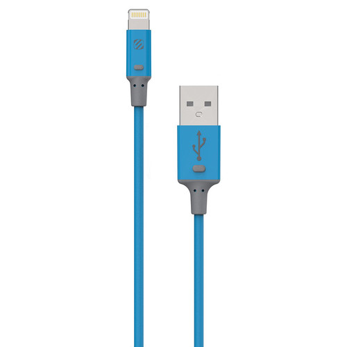 Scosche strikeLINE II Charge/Sync Cable for Lightning Devices (Blue, 3')