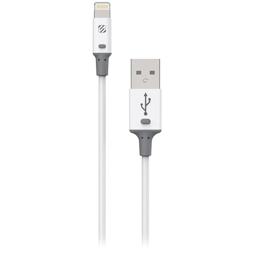 Scosche strikeLINE II Charge/Sync Cable for Lightning Devices (White, 3')