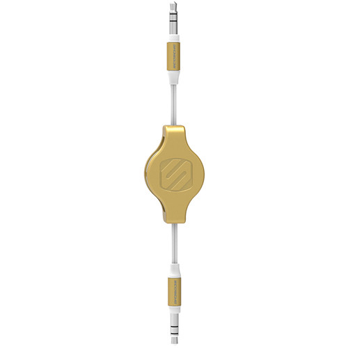 "Scosche rePLAY - Retractable Audio Cable for iPod & MP3 Devices 1/8"" (White/Gold)"