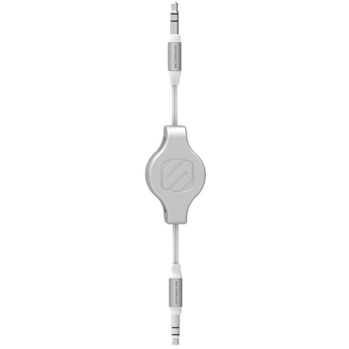 "Scosche rePLAY - Retractable Audio Cable for iPod & MP3 Devices 1/8"" (White/Silver)"