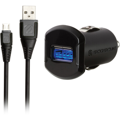 Scosche reVOLT pro Single USB Car Charger with micro-USB Cable