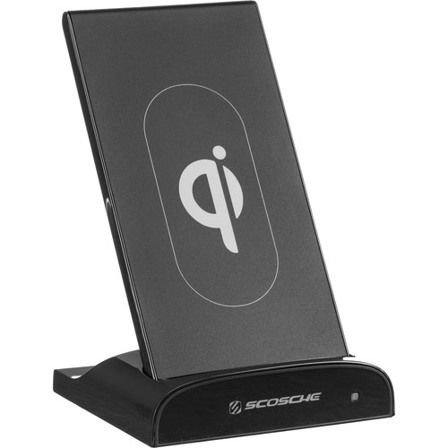 Scosche QiDock 2-in-1 Wireless Charging Dock and Wireless Powerbank Portable Battery Pack (Space Gray)
