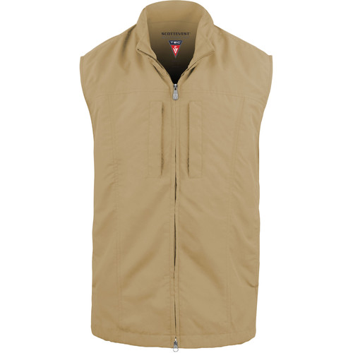 SCOTTeVEST RFID Travel Vest for Men (Large, Khaki)