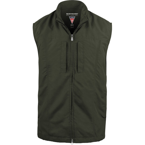 SCOTTeVEST RFID Travel Vest for Men (Medium, Olive)