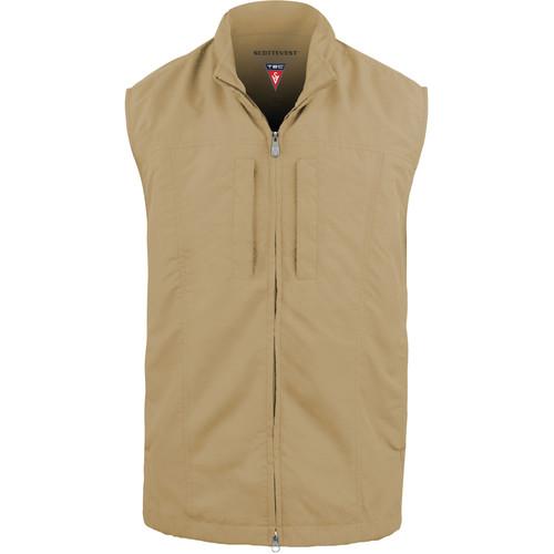 SCOTTeVEST RFID Travel Vest for Men (Small, Khaki)